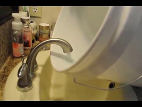 water pipe cleaning result in bathroom faucet