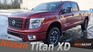 2016 Nissan Titan XD Cummins Diesel видео. Тест драйв Ниссан Титан Дизель 2016 на Русском. Авто США.