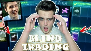 *OMG* INSANE BLIND TRADING vs THECAMPINGRUSHER - SO MUCH ON THE LINE! | Rocket League
