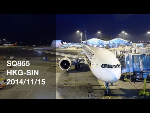 Singapore Airlines SQ865 HKG-SIN First Class Flight Report - 2014/11/15