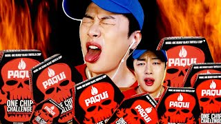 SUB) Mukbang | Korean One Chip Challenge !! The hottest potato chips in the world! Paqui chips