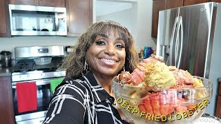 Frying Lobster Tails mini house vlog