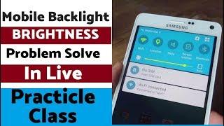 Mobile Repairing Institute | Mobile Backlight Brightness Problem Live Practical Class
