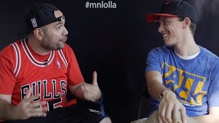 Rosenberg talks to Logic about his next album, wedding, and corgis at Lollapalooza