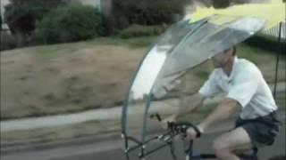 A Rainfish umbrella bike tour around the block.