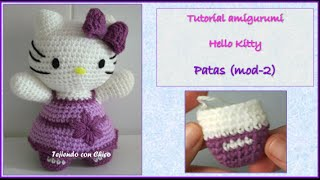 Tutorial Amigurumi Hello Kitty - Patas (mod-2) (english Subtitles)