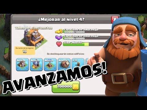 ¡MEJORAMOS EL TALLER DE CONSTRUCTOR A NIVEL 4! | Clash of Clans con TheAlvaro845 | Español mp3