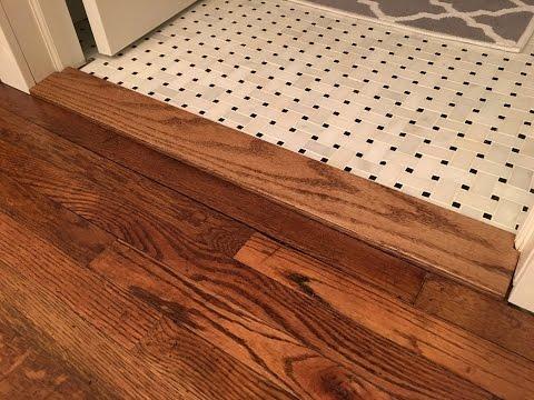 Building a Custom Floor Transition Threshold - Kraftmade