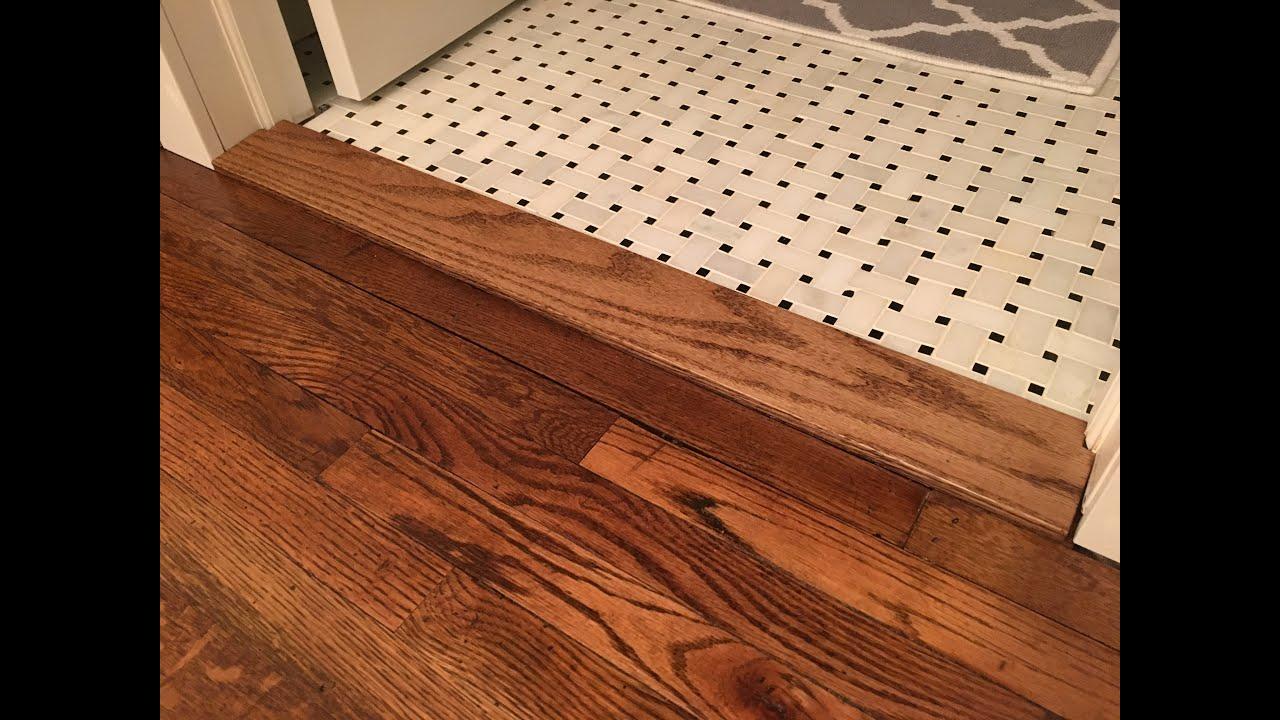 building a custom floor transition threshold kraftmade
