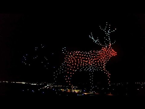 Holiday Drone Show by Walmart - Dallas - December 5, 2020