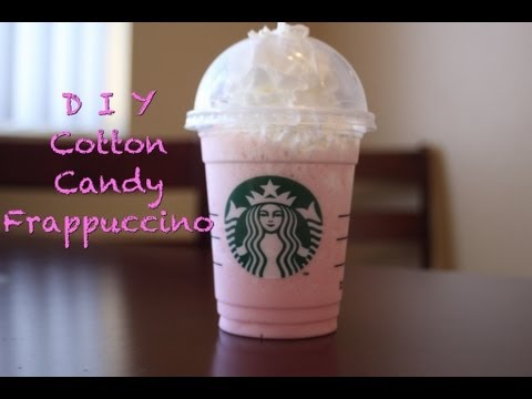 D I Y Cotton Candy Frappuccino