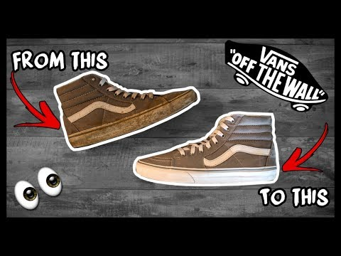 CLEANING FILTHY MUD COVERED OLD SKOOL VANS SK8 HI OG's TO LOOK BRAND NEW AGAIN!