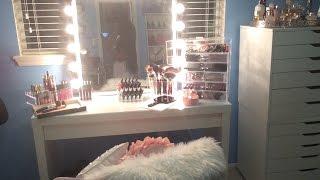 Makeup Vanity Tour 2015 ⎮makeup Organization 2015 ⎮makeup Storage 2015