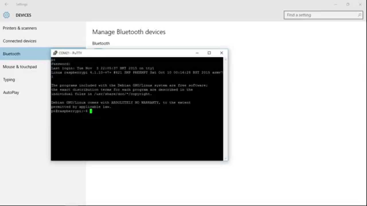 Raspberry Pi Bluetooth Serial Terminal Using Hc 06 Module Wiringpi Port Example Youtube