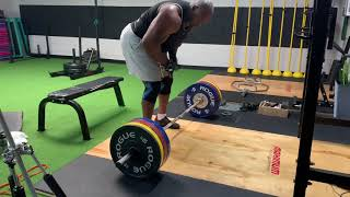 Rows and Deadlifts 335lbs