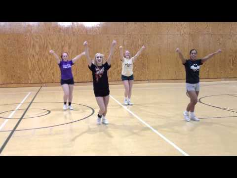 2012 Basketball Cheer Tryouts -- Sidelines and School Song