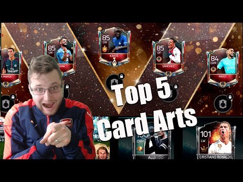 Free FIFA Points?! Top 5 Legendary Card Designs in FIFA Mobile 18! Legend Ronaldo, FIFA Champ Master
