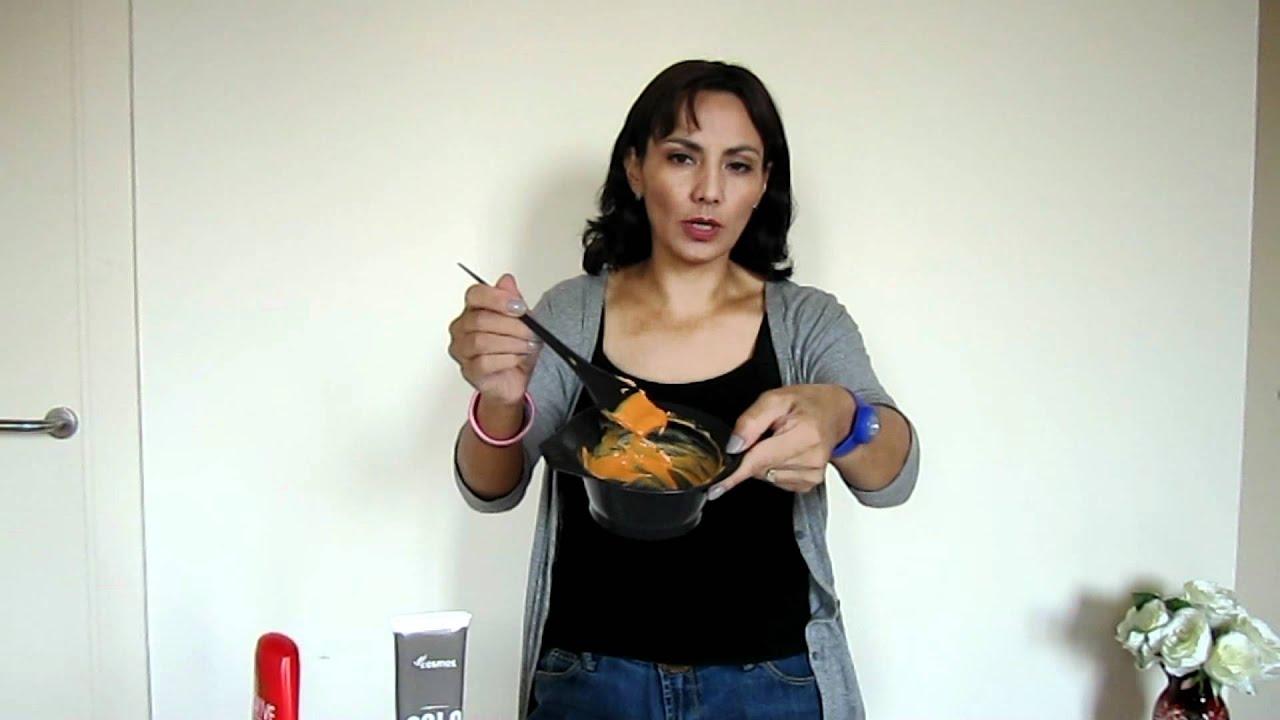 pintar mechas con colorante alimentario youtube