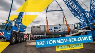382-Tonnen-Kolonne mit Towerlift eingehoben