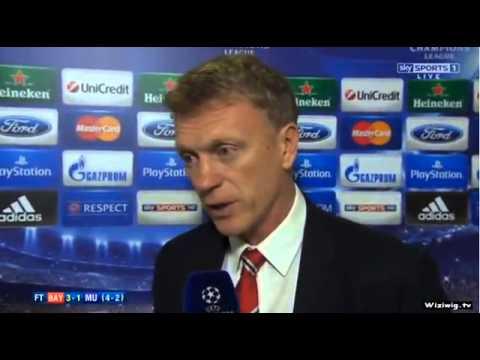 Bayern Munich 3-1 Manchester United - David moyes Interview 4-2 09/04/14