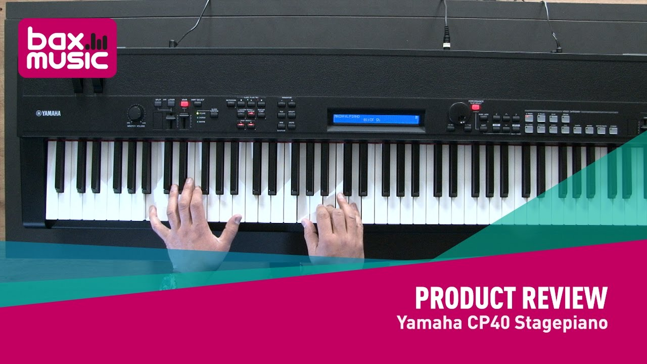 yamaha cp40 stagepiano review youtube