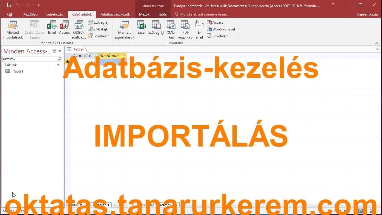 Excel adatbázis kezelés