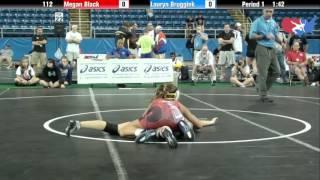 Fargo 2012 112 RR3: Megan Black (Iowa) vs. Lauryn Bruggink (Colorado)