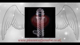 CRYSTAL CONDOM PENIS SLEEVE (pleasures of paradise)