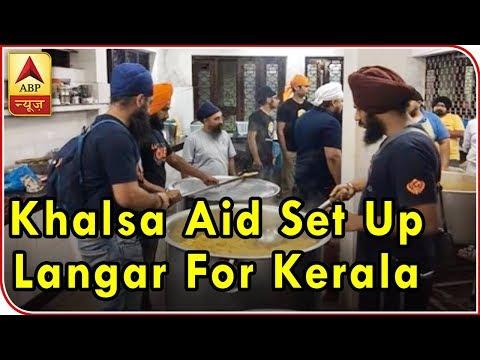 Sikh Volunteers Set Up `Langar` For Kerala Flood Victims