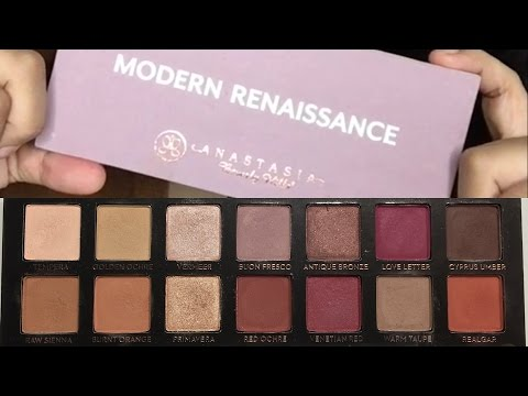 Anastasia Beverly Hills Modern Renaissance Swatches & Demo | DollStation