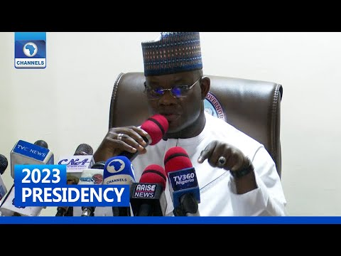 2023 Presidency: Nobody Can Stop Me From Contesting - Yahaya Bello