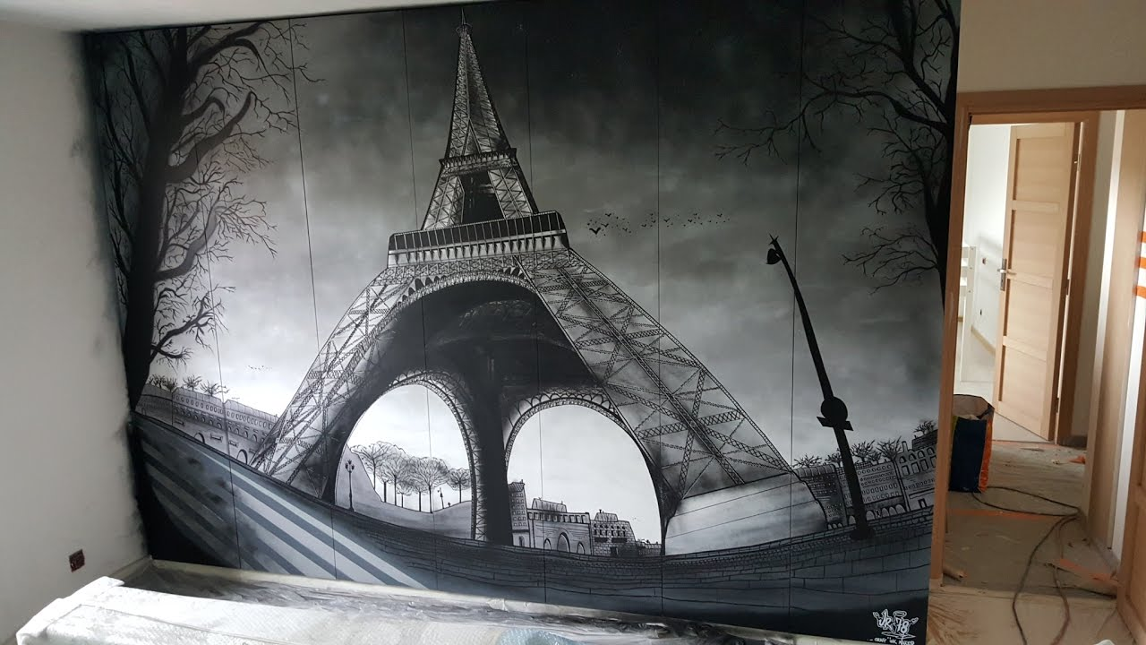 deco graffiti timelapse tour eiffel by ur 78 youtube. Black Bedroom Furniture Sets. Home Design Ideas