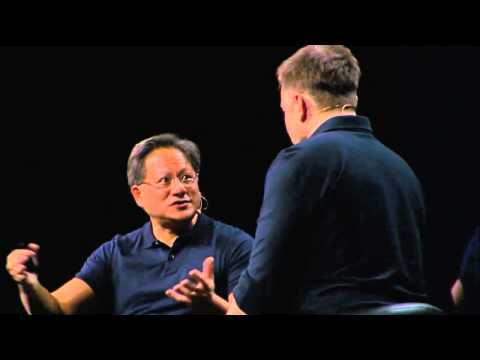 GTC 2015  NVIDIA CEO Jen Hsun Huang Interviews Tesla Motors CEO Elon Musk part 9