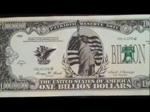 One Billion Dollars Note