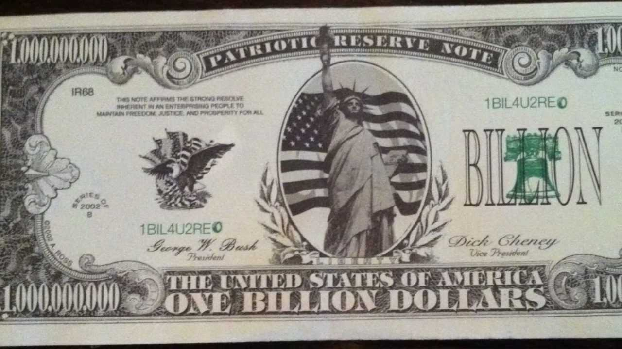 one billion dollars note youtube