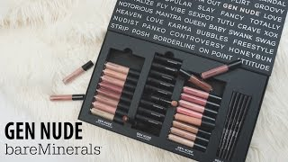 bareMinerals Gen Nude Collection Swatches & Review | ALLIE G BEAUTY