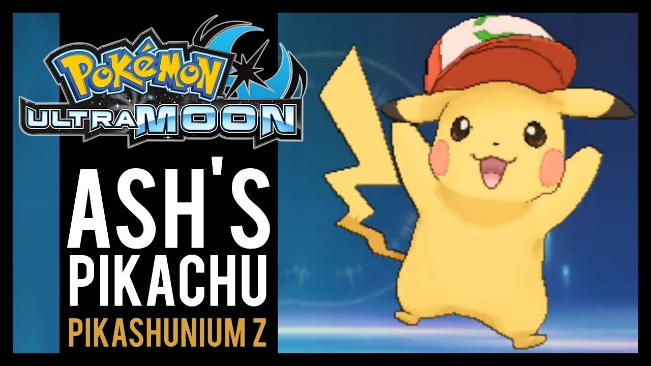 7658ec586 Pokemon Ultra Sun And Ultra Moon - Where To Find Ash's Pikachu And  Pikashunium Z (3DS)