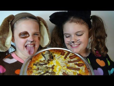 Bad Baby Puppy Kitty Pizza Challenge...