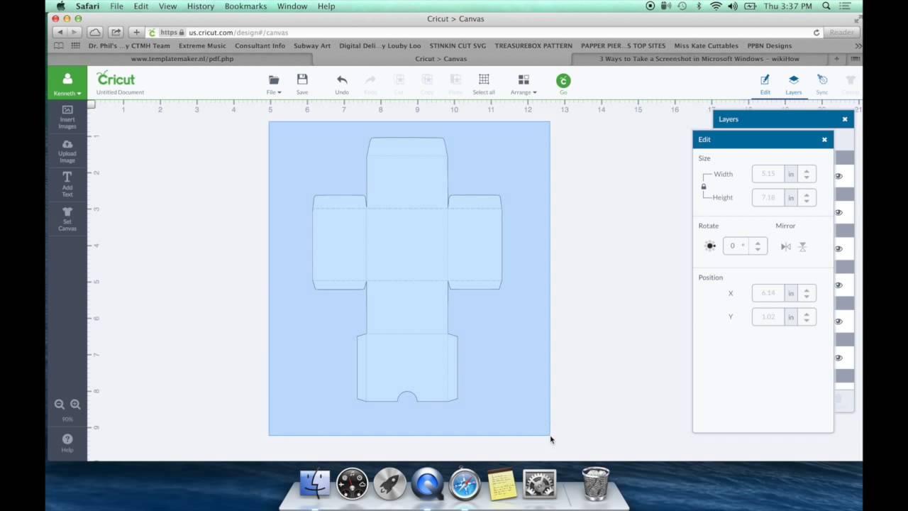 Diy Box Template For Cricut Design Space