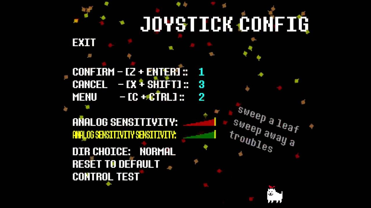 undertale joystick config and control test