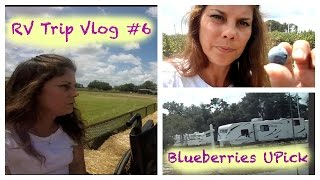 RV Travel Florida Vlog #6~ Drive to  Blueberry Farm Upick Near Orlando Florida