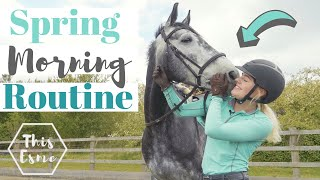 MORNING ROUTINE of an Equestrian | Spring 2020 | This Esme