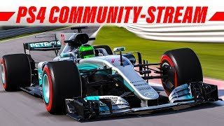 F1 2017 Livestream: Online Community-Rennen (PS4) | Deutsch