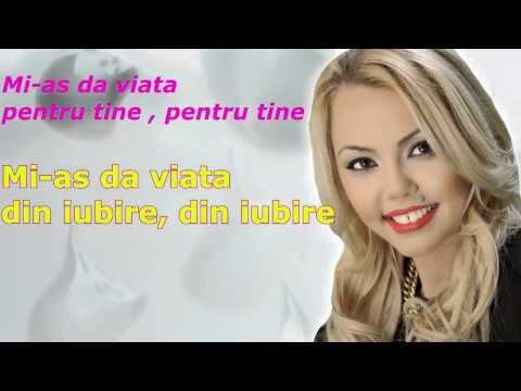 DENISA Mi as da viata din iubire melodie originala Lyric Video