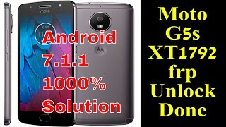 Moto G5S (XT1795) FRP Unlock Google Account Bypass Without