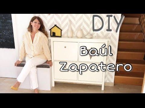 Diy como hacer un zapatero tapizado baul zapatero homemade youtube - Baul zapatero ...