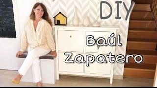 DIY Como hacer un zapatero tapizado/BAUL ZAPATERO homemade
