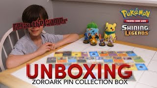 Pokémon Shining Legends Zoroark | Pin Collection Box Card Unboxing