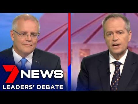 Leaders' Debate 2019 | Scott Morrison & Bill Shorten | 7NEWS