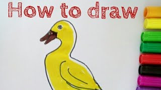 How to draw duck